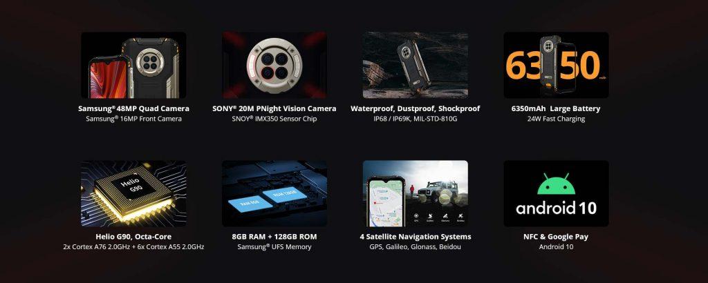Doogee S96 pro night vision camera